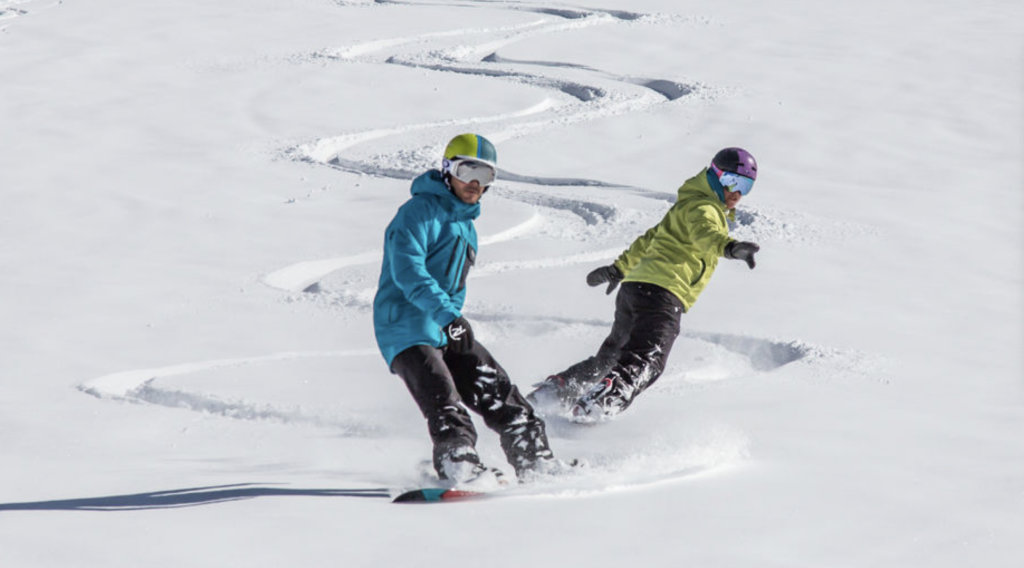snowboarding Sierra Nevada